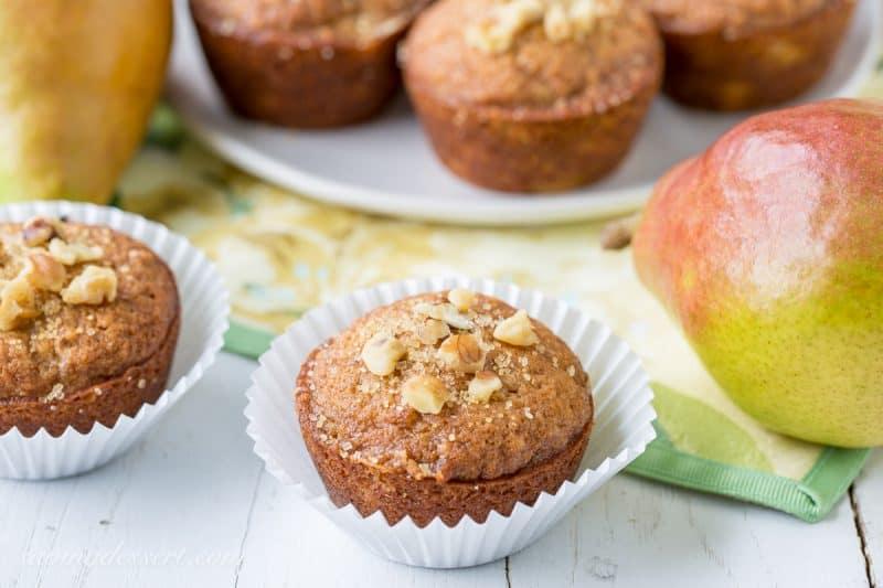 Pear Walnut Muffins Saving Room For Dessert