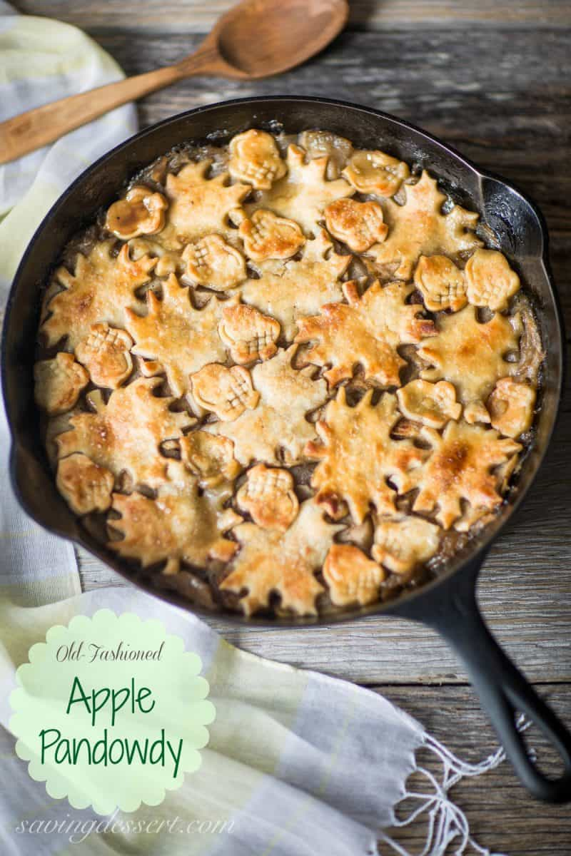 Apple Pandowdy (or Apple Pan Dowdy) is an old-fashioned skillet apple pie dating back to the early 1800's. www.savingdessert.com