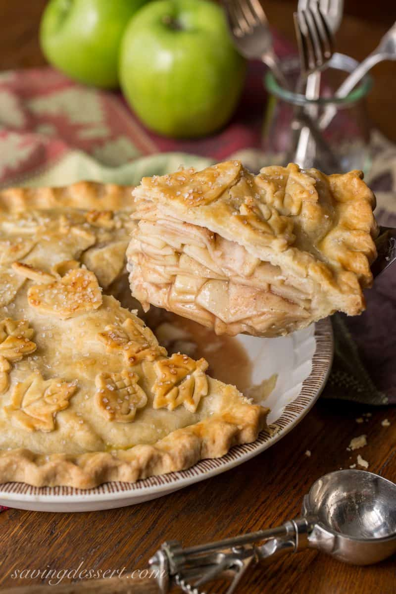 Classic Double Crust Apple Pie Recipe - the filling is made with tart ...