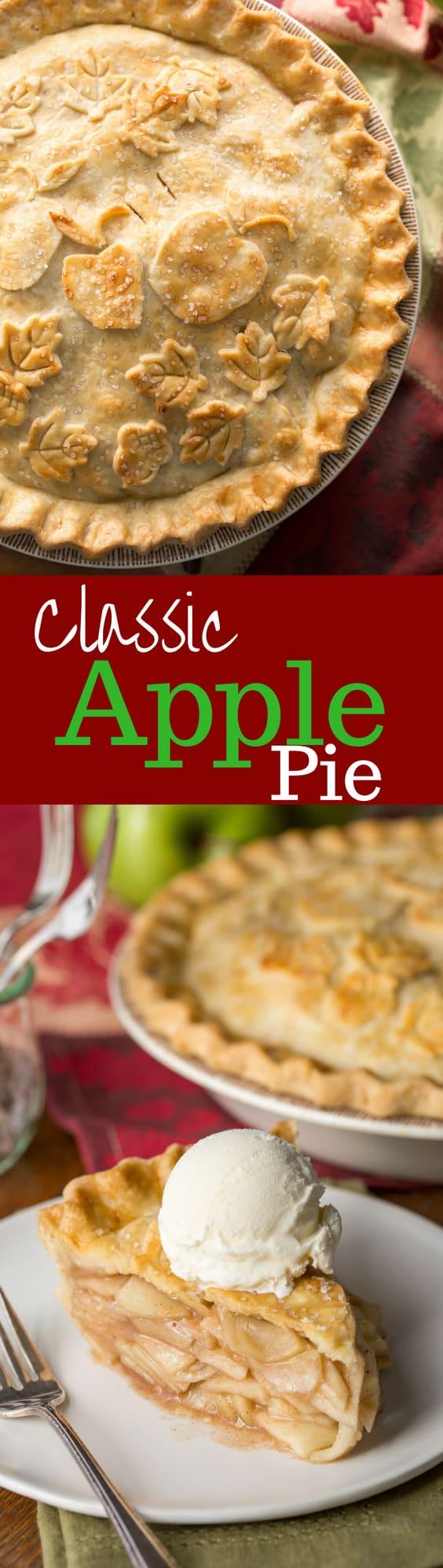 Classic Double Crust Apple Pie Recipe - Saving Room for ...