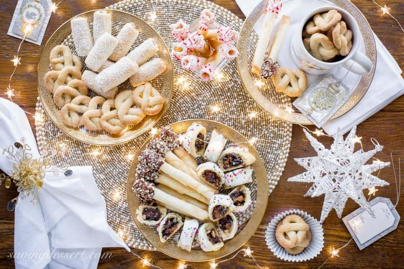 A buffet of delicious holiday cookies