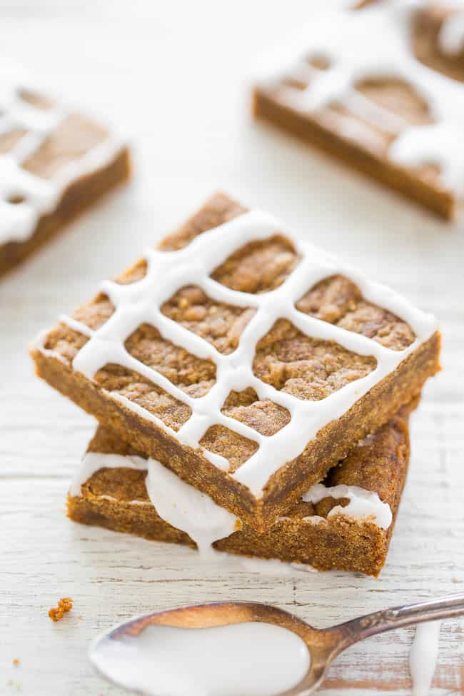 Iced Gingerbread Bars