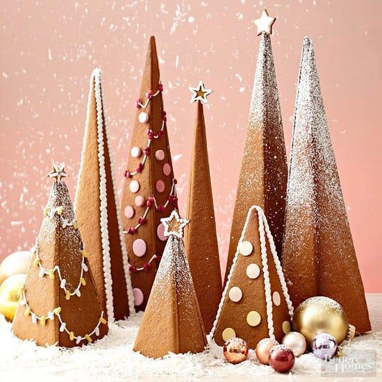 3-D Gingerbread Trees ~ BHG