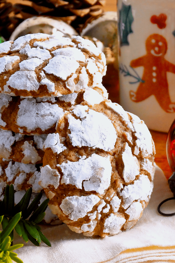 Gingerbread Gooey Butter Cookies ~ from Wicked Good Kitchen