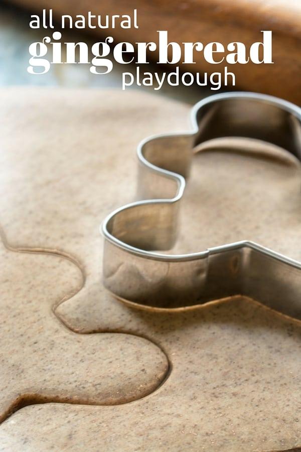 All-Natural Gingerbread Playdough
