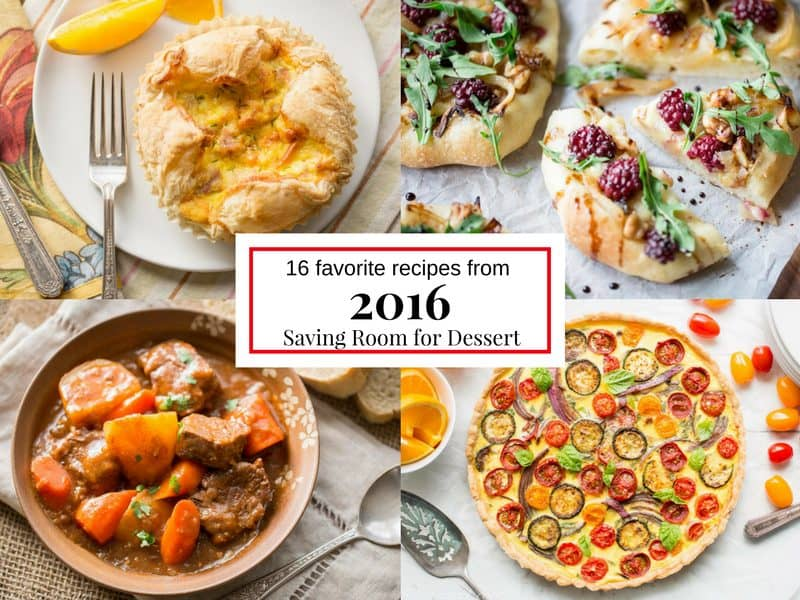 16 of our favorite recipes from 2016 - www.savingdessert.com