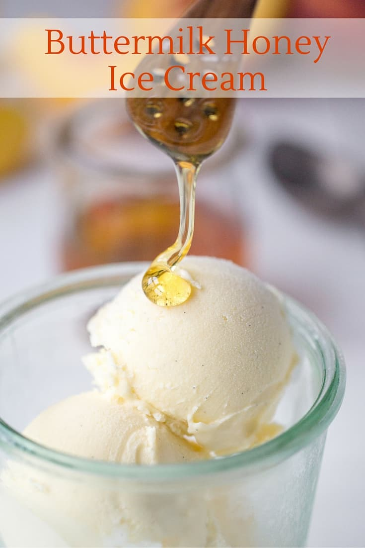Buttermilk Honey Ice Cream - This lowly ice cream recipe didn't get must attention on the blog, but everybody that tasted it cannot forget it's incredible taste and texture. A delicious smooth and tangy frozen treat with notes of vanilla, lemon and honey. www.savingdessert.com