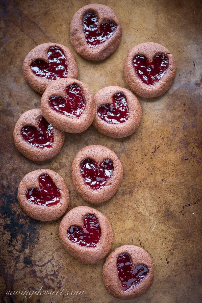 Chocolate Raspberry Thumbprint Cookies - who can resist the classic ...
