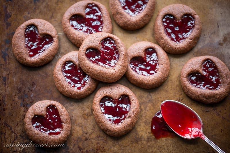Chocolate Raspberry Thumbprint Cookies Saving Room For