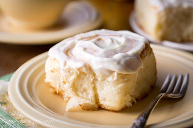 Lemon Sweet Rolls With Lemon Cream Cheese Icing Saving