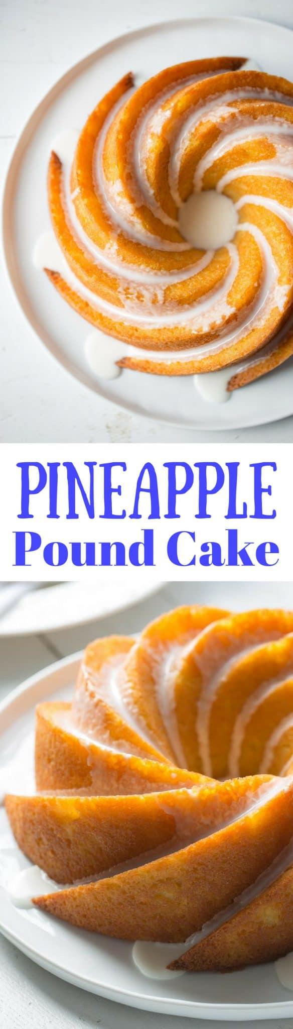 Moist pineapple pound cake recipe