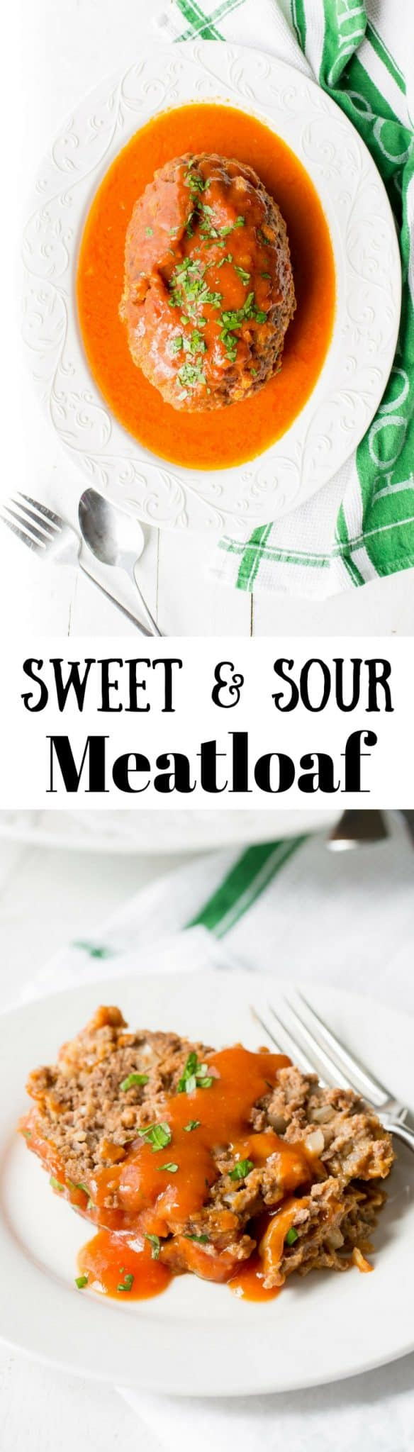 Sweet and Sour Meatloaf (sometimes called Dutch Meatloaf) ~ a tangy, juicy meatloaf covered in an easy sweet and sour sauce made with ketchup, mustard, vinegar and brown sugar. www.savingdessert.com