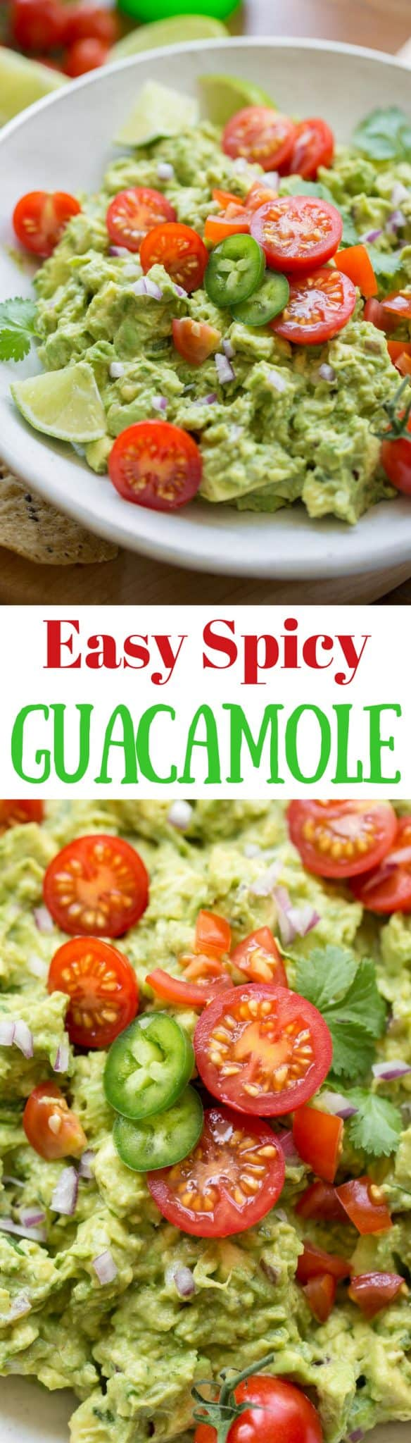 Easy Spicy Guacamole ~ incredibly delicious made fresh at your own table, hand crafted and seasoned just the way you like it ... and it's super easy to make too. www.savingdessert.com