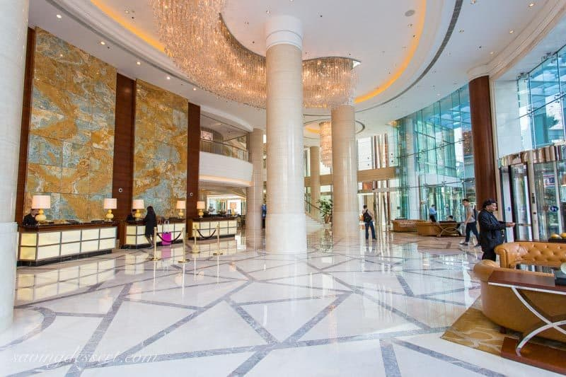 Shanghai Marriott Hotel City Centre ~located in the heart of Shanghai, this beautiful hotel is convenient to the Metro, shopping, and many of the most popular tourist attractions. www.savingdessert.com