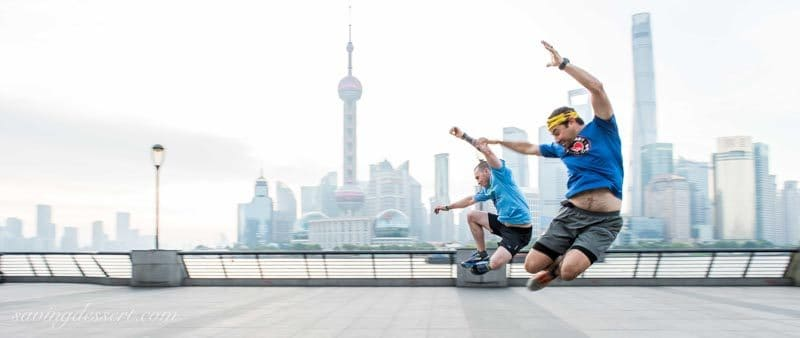 Running on The Bund Shanghai China www.savingdessert.com