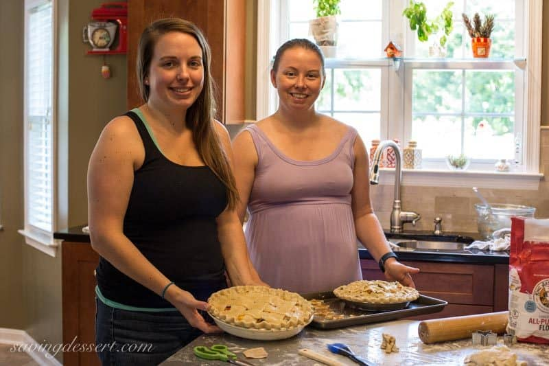 Pie class with Allie and Ashley - Nectarine Blueberry Pie