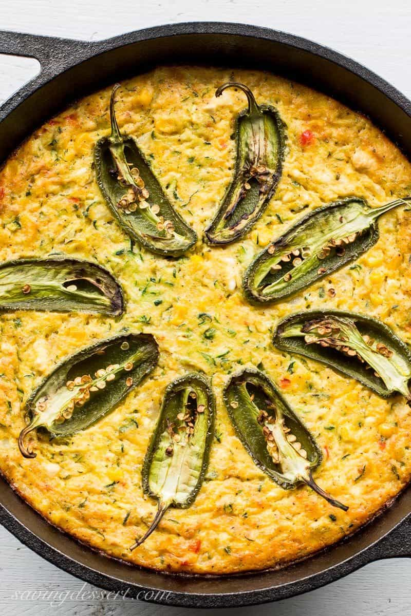 corn zucchini and jalapeno casserole