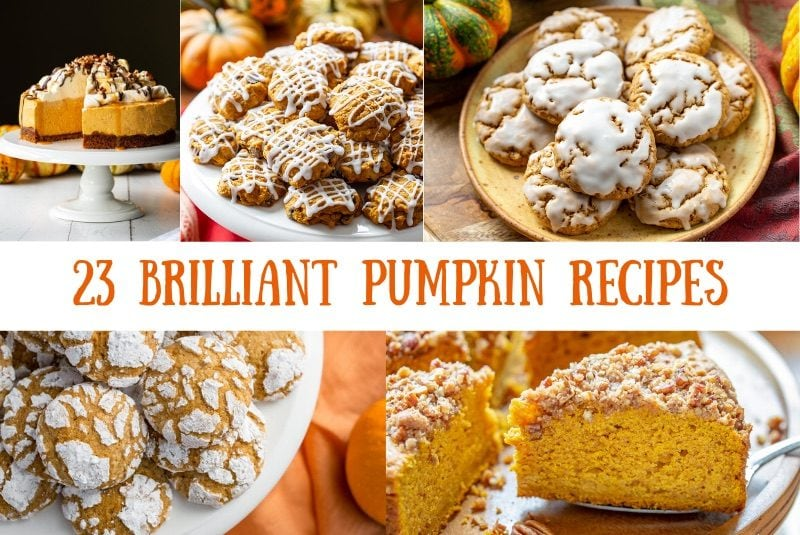 A collage of pumpkin recipes