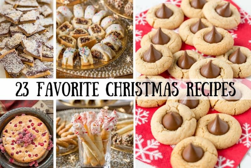 23 Favorite Christmas Cookies Candy Cake Recipes Saving Room