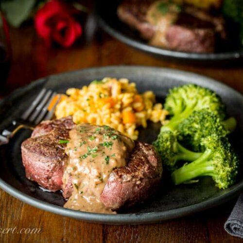 Beef Tenderloin Steaks With Herb Pan Sauce Saving Room For Dessert