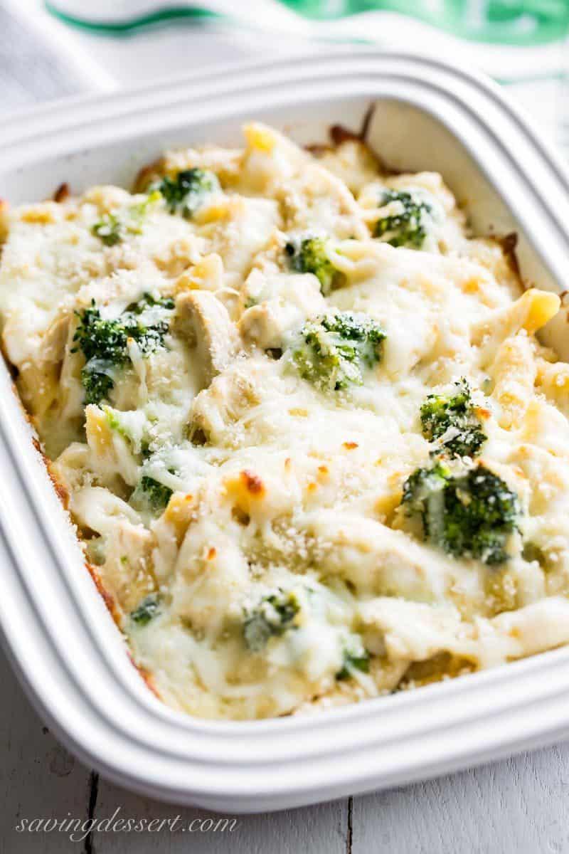 Broccoli & Chicken Alfredo Bake casserole