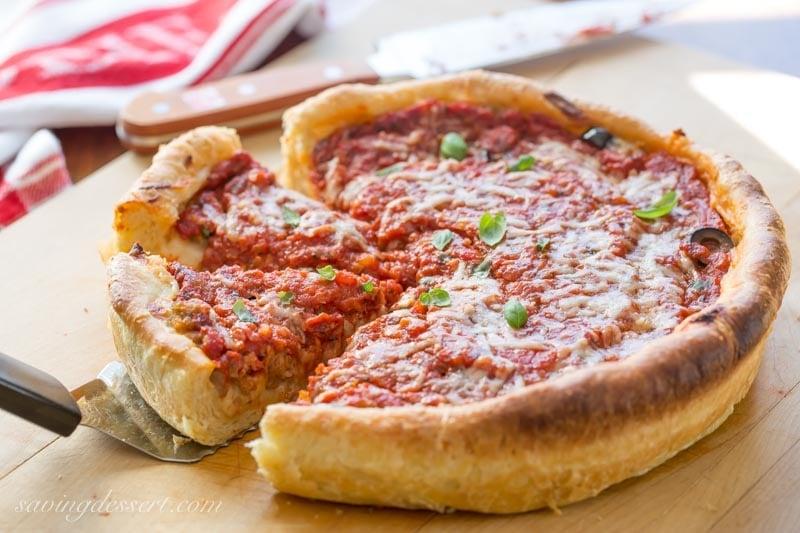 Chicago-Style Deep-Dish Pizza Recipe - Saving Room for Dessert