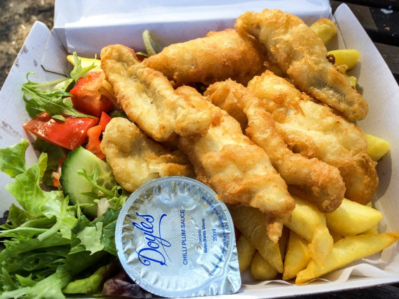 Fish and Chips from Doyles Restaurant, Watsons Bay