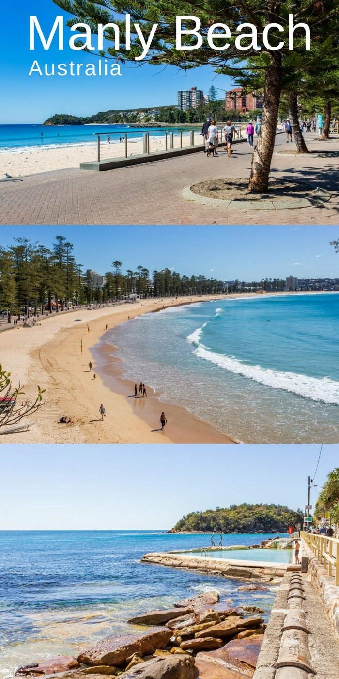 A collage of photos from Manly Beach Australia