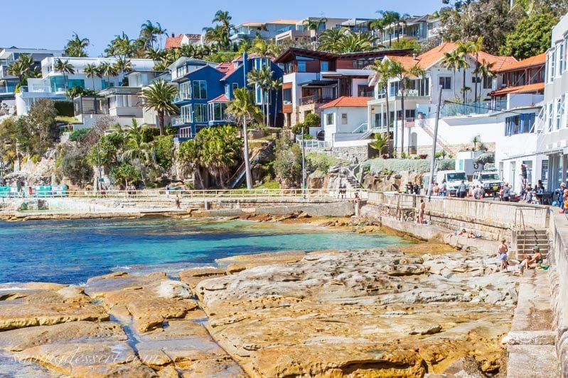 Houses along the coast of Manly, Sydney Australia