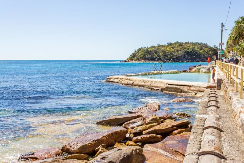 Fairy Bower saltwater rock pool on Manly, Sydney Australia