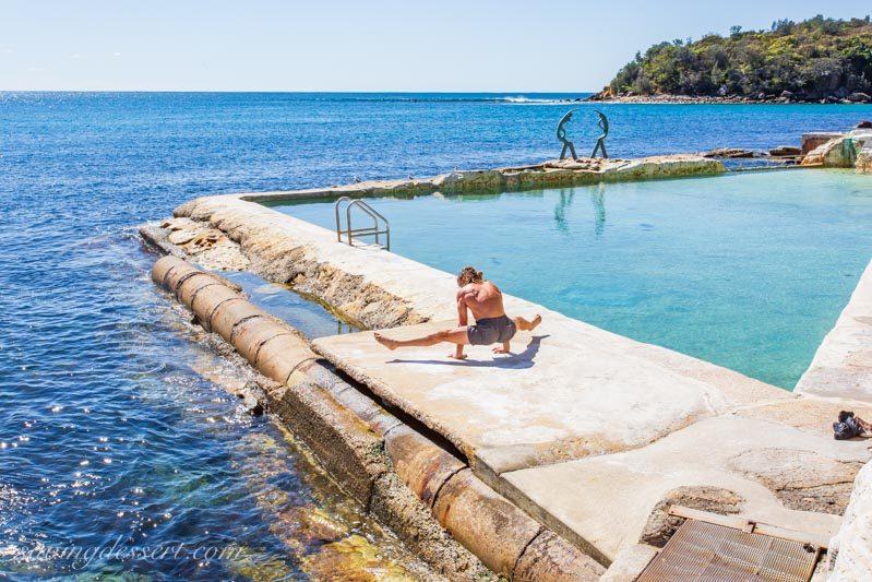Fairy Bower saltwater rock pool on Manly, Sydney Australia