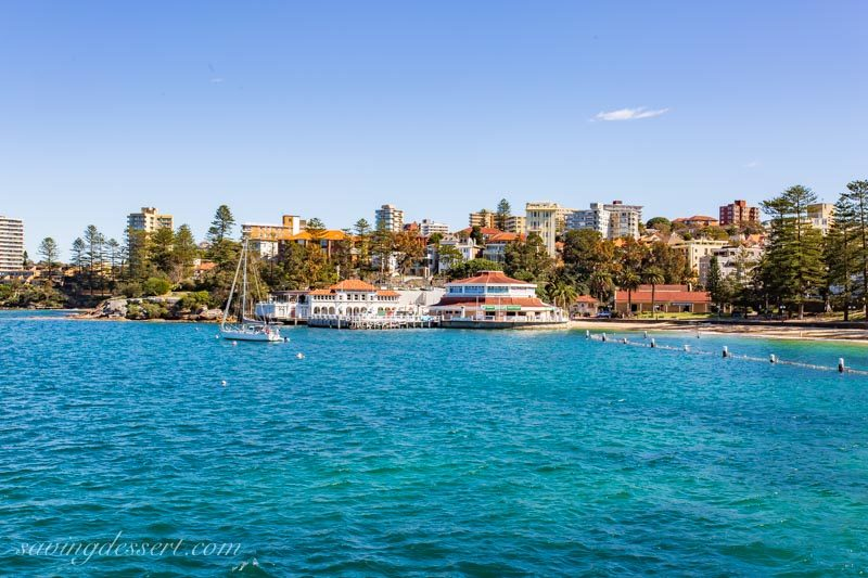 A view of Manly Wharf from the Ferry