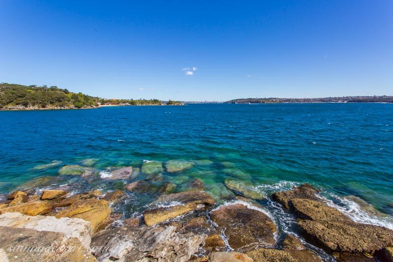 Collins Beach with sailboat, Manly, Sydney Australia