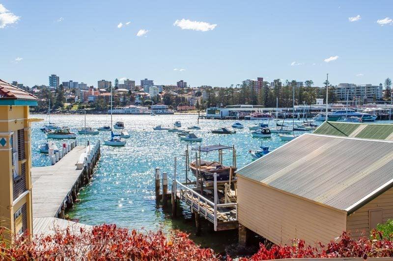 Sailboats near Manly Wharf, Sydney Australia