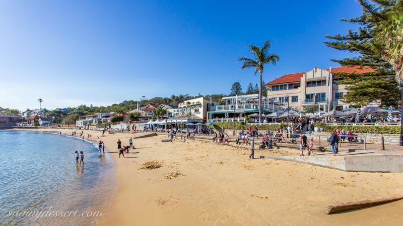 Watsons Bay beach with restaurants