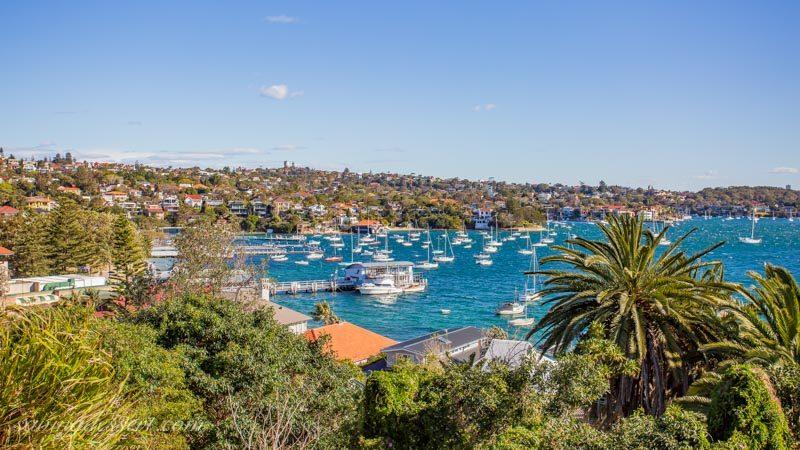 Camp Cove, Watsons Bay near Sydney Australia with docks and sailboats
