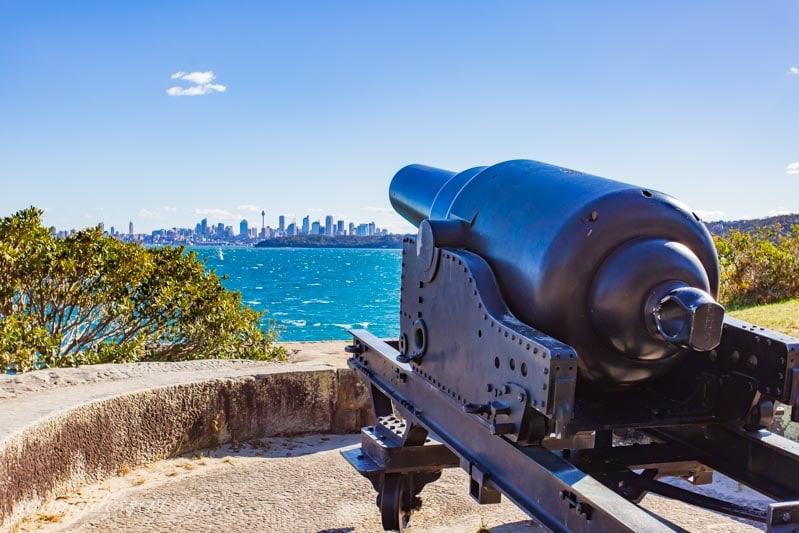 A canon facing Sydney Australia from Watsons Bay