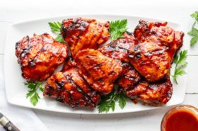 How to make grilled skin-on, bone-in Barbecued Chicken