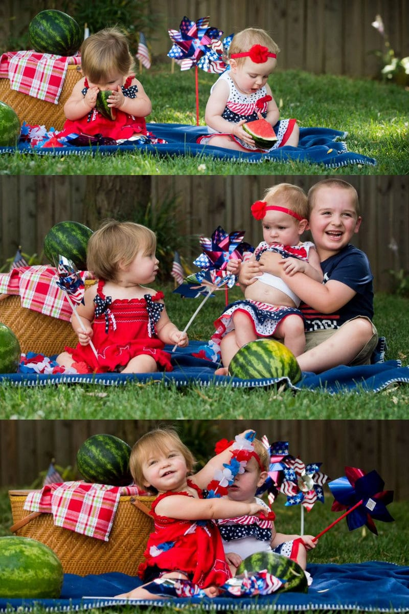 Photo of grandkids for the 4th of July