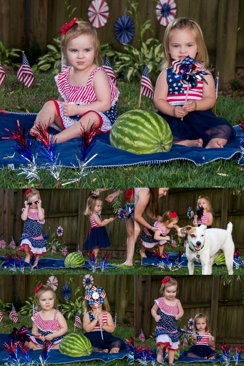 grandkids dressed up for the 4th of July