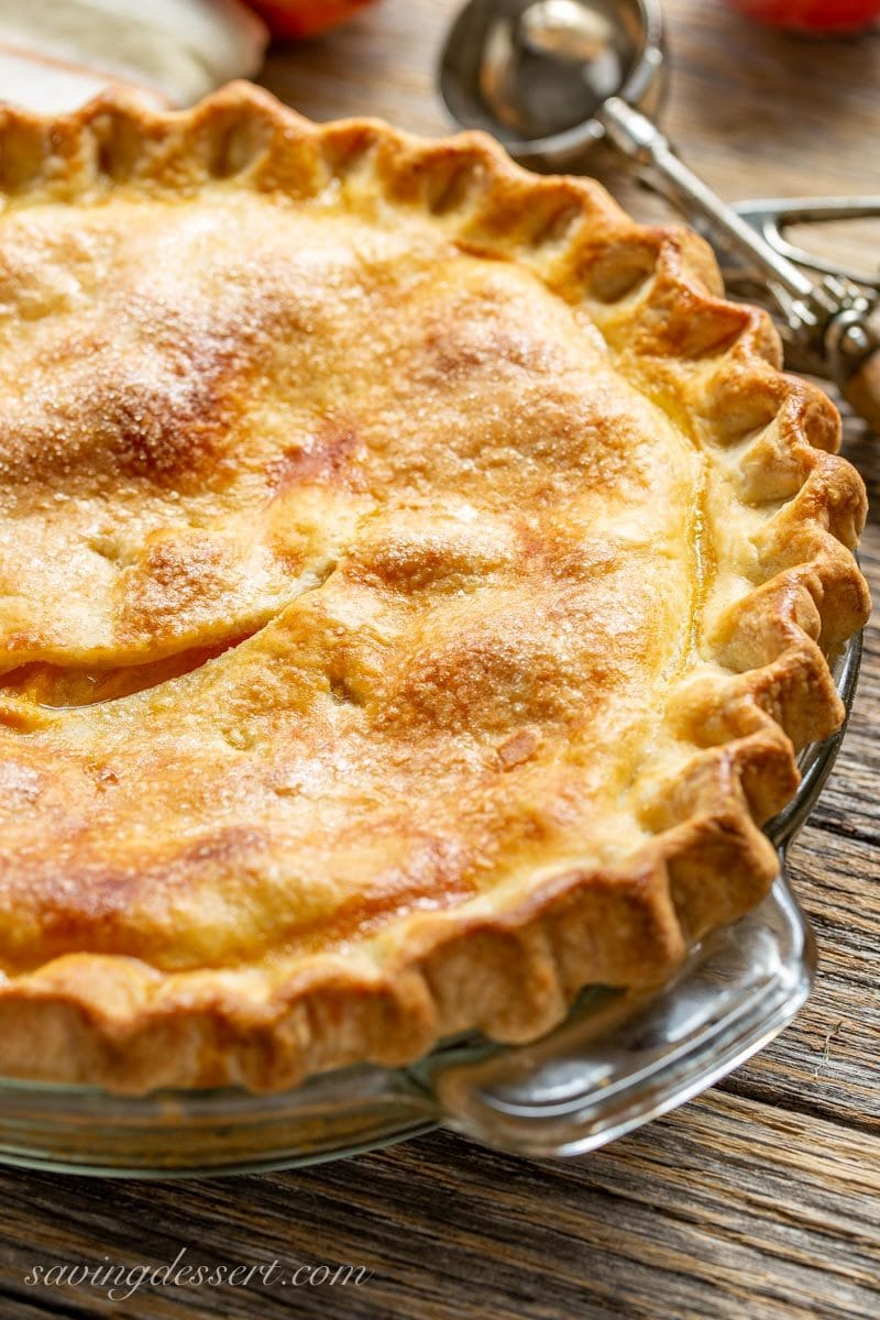 Old Fashioned Fresh Peach Pie