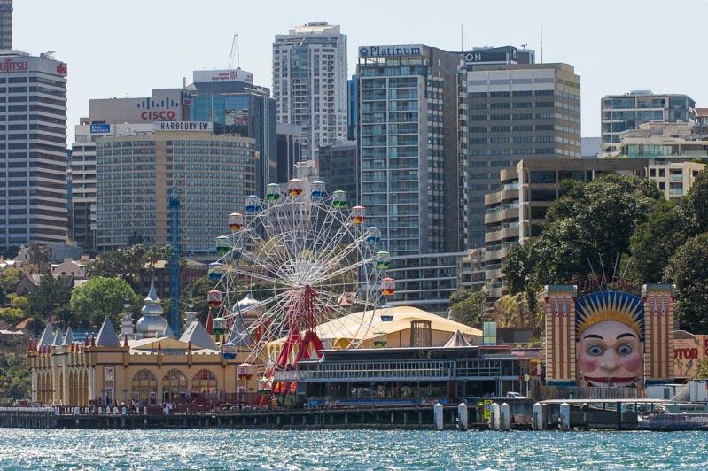 Luna Park Amusement Complex in Sydney Australia