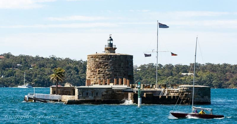 Fort Denison in the harbour hear Sydney Australia