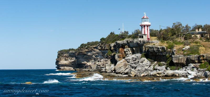 Hornby Lighthouse and ocean side cliffs near Watsons Bay, Sydney Australia