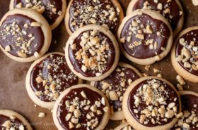 Peanut Butter Chocolate Meltaway Cookies