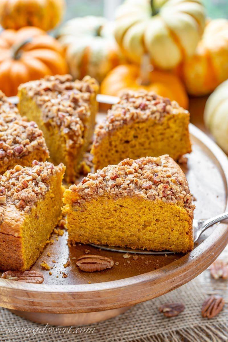 sliced pumpkin breakfast cake