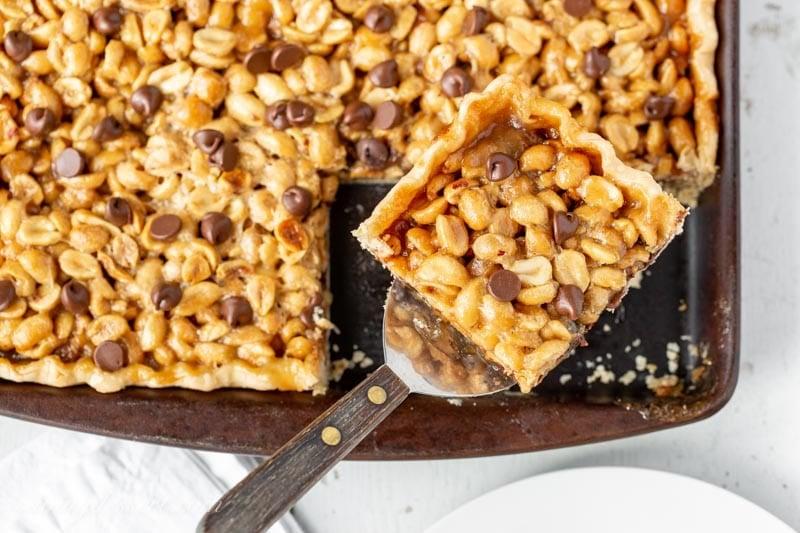 Ultra-Nutty Chocolate Peanut Slab Pie