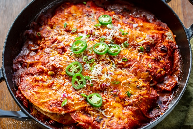 Easy Chicken Enchiladas Recipe Saving Room For Dessert