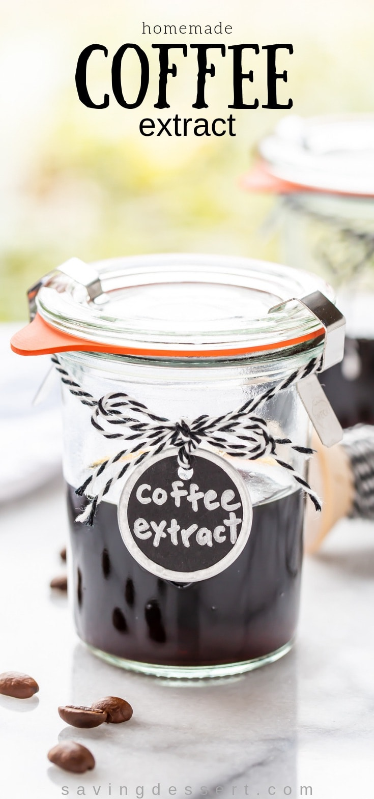Deliciously rich, homemade Coffee Extract is a handy and delicious addition to your kitchen pantry! #coffee #extract #coffeeextract #mocha #coffeerecipes