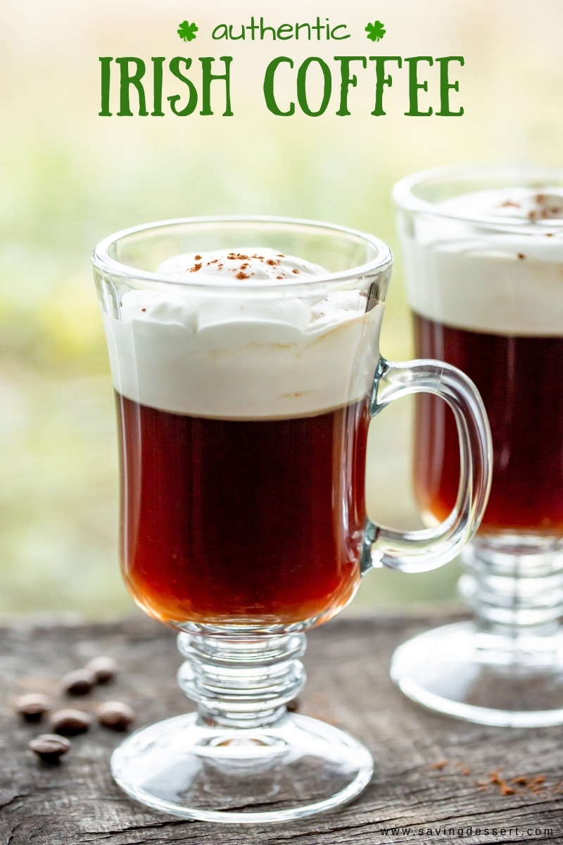 A mug of authentic Irish coffee